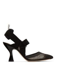 Черные туфли в сеточку от Fendi