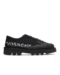 Черные туфли дерби из плотной ткани от Givenchy