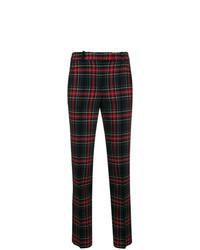 Черные узкие брюки в шотландскую клетку
