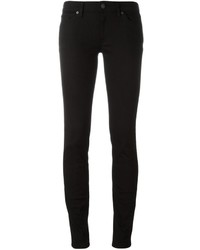 Черные хлопковые джинсы скинни от Burberry