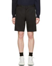Мужские черные хлопковые шорты от Lanvin