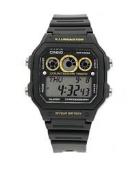 Мужские черные часы от CASIO