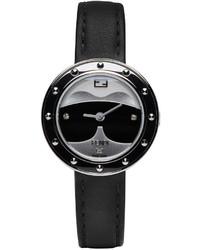 Женские черные часы от Fendi