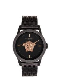 Мужские черные часы от Versace