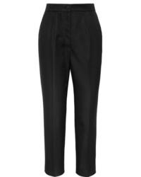 Женские черные шелковые классические брюки от Dolce & Gabbana