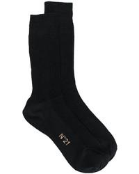 Женские черные шелковые носки от No.21