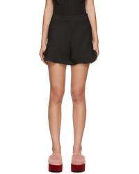 Женские черные шелковые шорты от Fendi