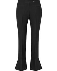 Черные шерстяные брюки-клеш от Fendi