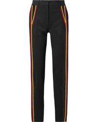 Женские черные шерстяные классические брюки в вертикальную полоску от Calvin Klein 205W39nyc