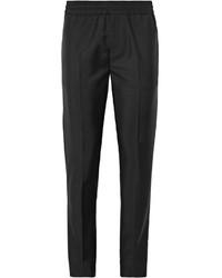 Мужские черные шерстяные классические брюки от Acne Studios