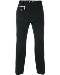 Мужские черные шерстяные классические брюки от DSQUARED2