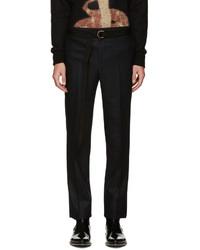 Мужские черные шерстяные классические брюки от Givenchy