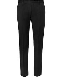 Мужские черные шерстяные классические брюки от Hugo Boss