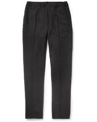 Мужские черные шерстяные классические брюки от Lanvin