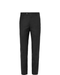Мужские черные шерстяные классические брюки от Mr P.