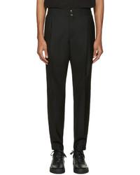 Мужские черные шерстяные классические брюки от Public School
