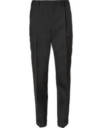 Мужские черные шерстяные классические брюки от Saint Laurent