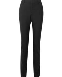 Женские черные шерстяные классические брюки от Saint Laurent
