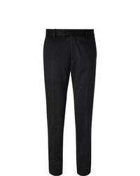 Мужские черные шерстяные классические брюки от Salle Privée