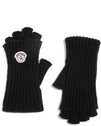 Черные шерстяные перчатки