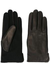 Мужские черные шерстяные перчатки от A.P.C.