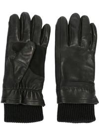 Мужские черные шерстяные перчатки от AMI Alexandre Mattiussi