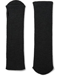 Мужские черные шерстяные перчатки от Dries Van Noten