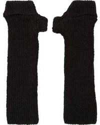 Мужские черные шерстяные перчатки от Julius