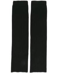 Мужские черные шерстяные перчатки от Juun.J