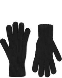 Мужские черные шерстяные перчатки от Margaret Howell