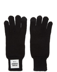 Мужские черные шерстяные перчатки от Opening Ceremony