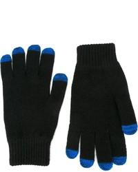 Мужские черные шерстяные перчатки от Paul Smith