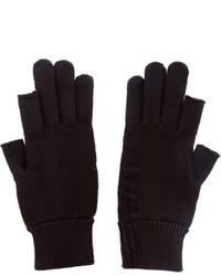 Мужские черные шерстяные перчатки от Rick Owens