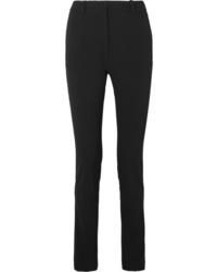 Черные шерстяные узкие брюки