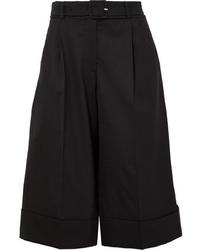 Женские черные шерстяные шорты-бермуды от Simone Rocha