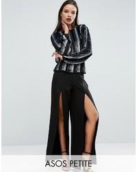 Женские черные широкие брюки от Asos