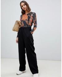 Черные широкие брюки от Weekday