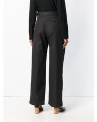 Черные широкие брюки от Christian Wijnants