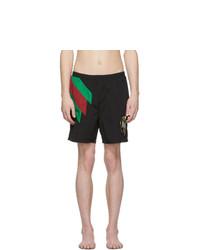 Черные шорты для плавания от Gucci