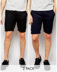 Мужские черные шорты от Asos