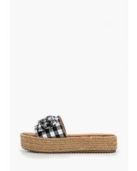 Женские черные эспадрильи из плотной ткани от Sweet Shoes