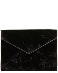 Черный бархатный клатч