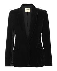 Женский черный бархатный пиджак от L'Agence