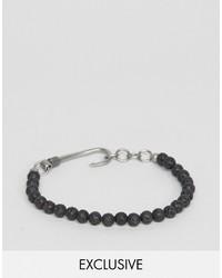 Мужской черный браслет из бисера от Seven London