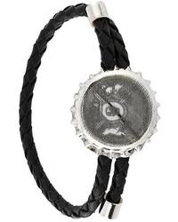 Мужской черный браслет от Alexander McQueen
