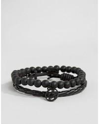 Мужской черный браслет от Icon Brand