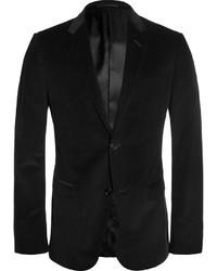 Черный вельветовый пиджак