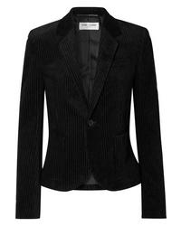 Женский черный вельветовый пиджак от Saint Laurent