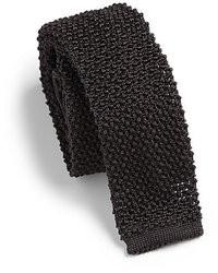 Черный вязаный галстук