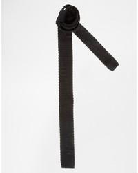 Мужской черный вязаный галстук от Asos